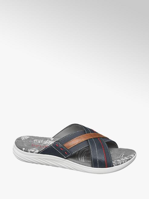 Venice Donkerblauwe slipper