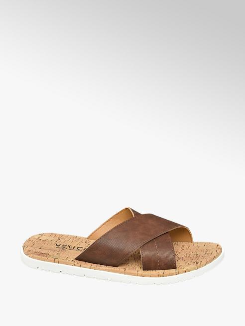 Venice Cognac slipper