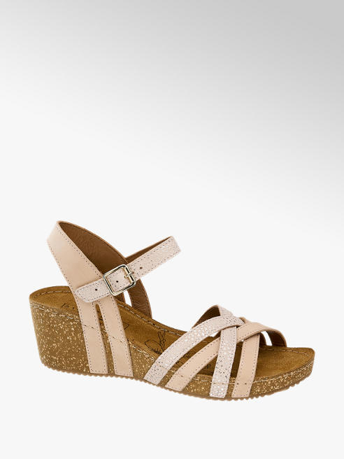 5th Avenue Beige leren sandalette