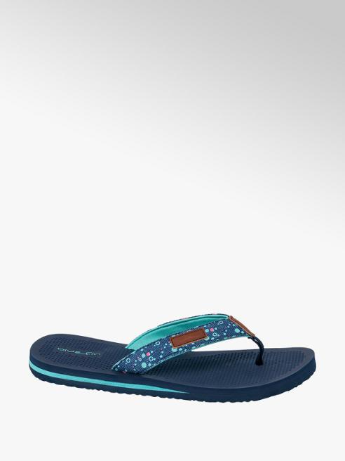 Blue Fin Ladies blue Fin Navy Spotted Toe-Post Flip Flops