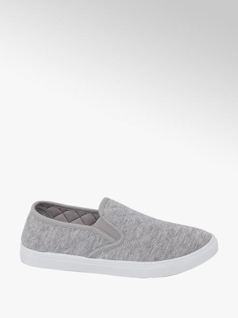 Blue Fin Ladies Blue Fin Grey Slip-On Quilted Shoes