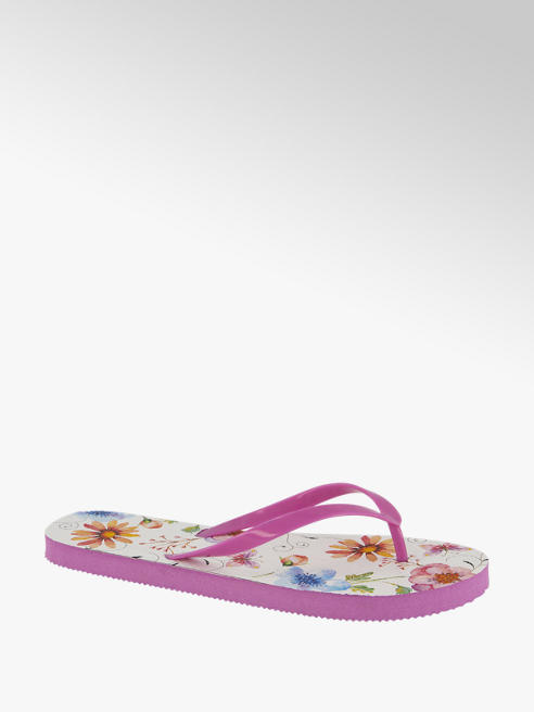 Blue Fin Roze teenslipper bloemenprint