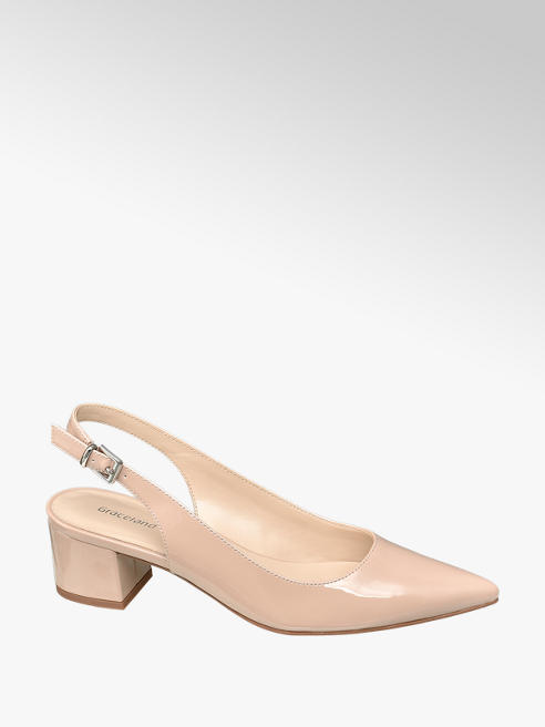 Graceland Slingback Pumps Lack-Look