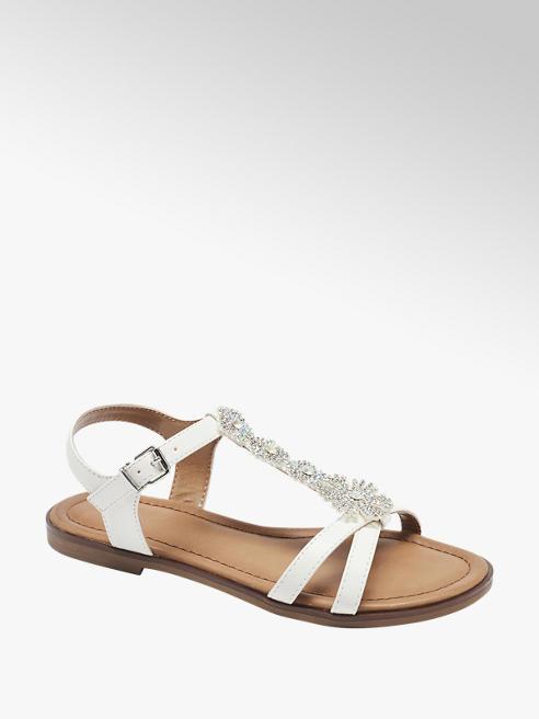 Graceland Witte sandaal bloemen
