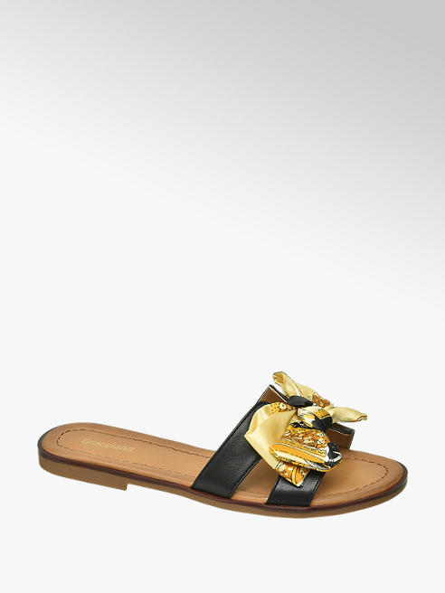 Graceland Zwarte slipper strik