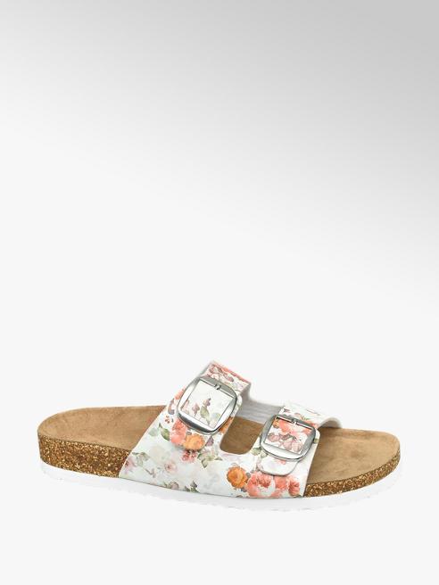 Graceland Witte slipper leren voetbed