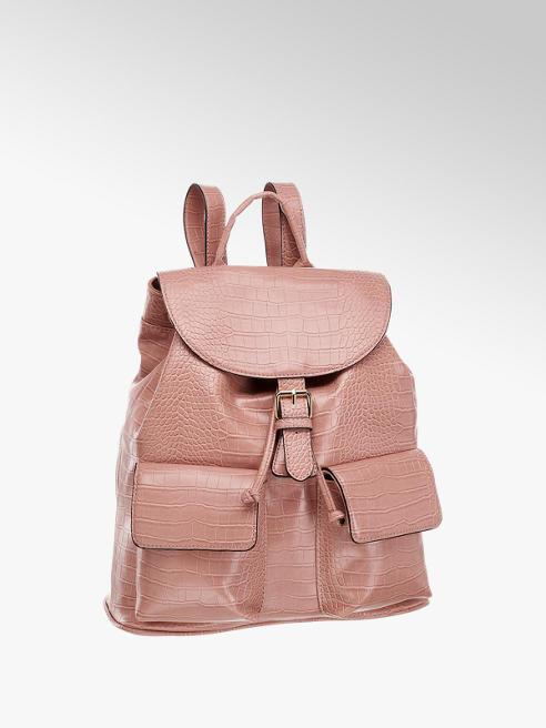 Catwalk Light Pink Croc Backpack