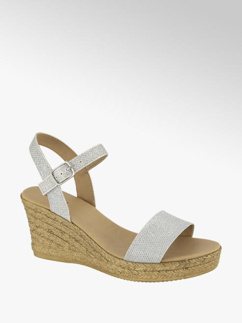 Graceland Zilveren sandalette sleehak