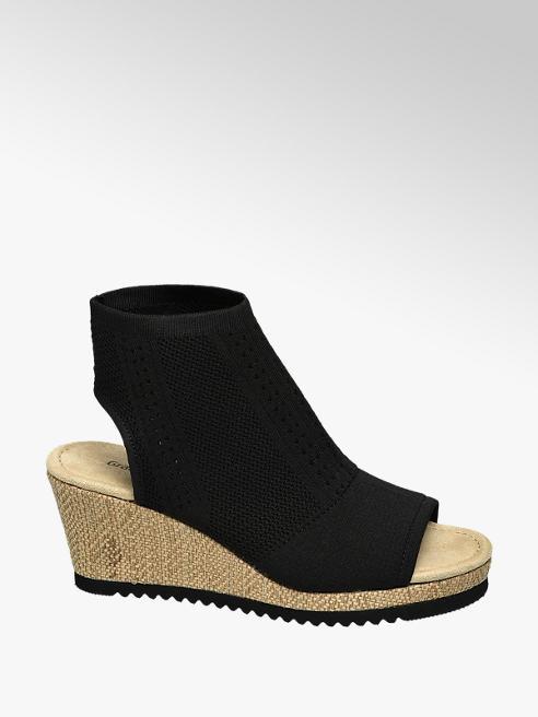 Graceland Zwarte sandalette elastisch