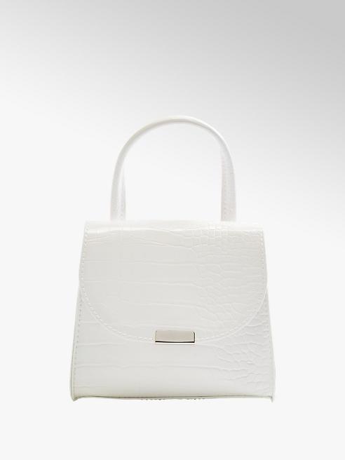 Graceland White Mini Croc Tote Bag