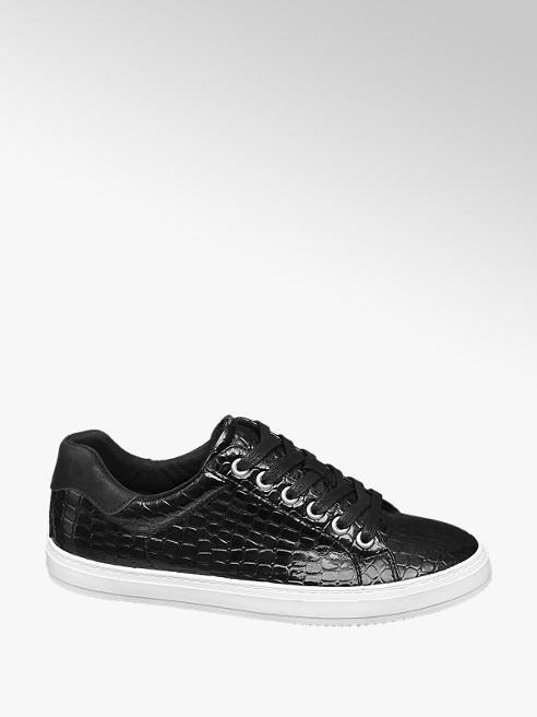 Graceland Zwarte sneaker crocoprint