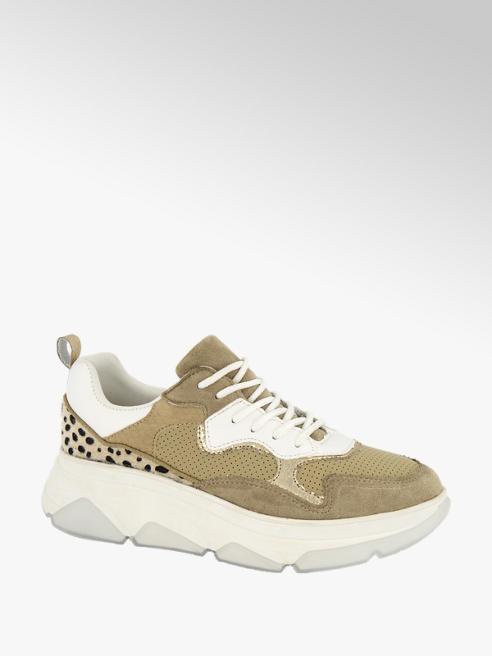 Graceland Bruine chunky sneaker cheetaprint