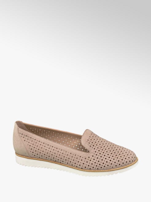 Graceland Roze loafer perforatie