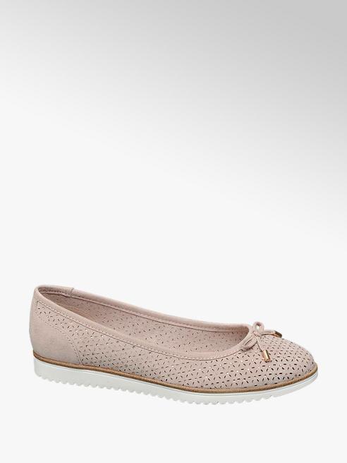Graceland Roze ballerina perforatie