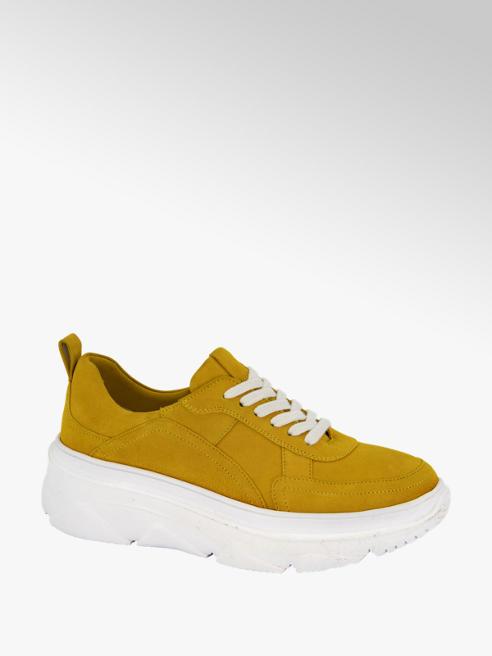 5th Avenue Okergele suède chunky sneaker