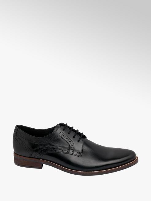 AM SHOE Mens AM Shoe Leather Black Lace-up Shoes