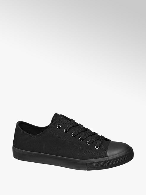 Vty Mens VTY Black Canvas Lace-up Shoes