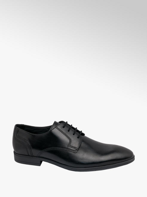 AM SHOE Mens AM Shoe Leather Black Lace-up Shoes
