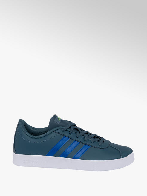 adidas Teen Boys Adidas VL Court 2.0 Blue Lace-up Trainers