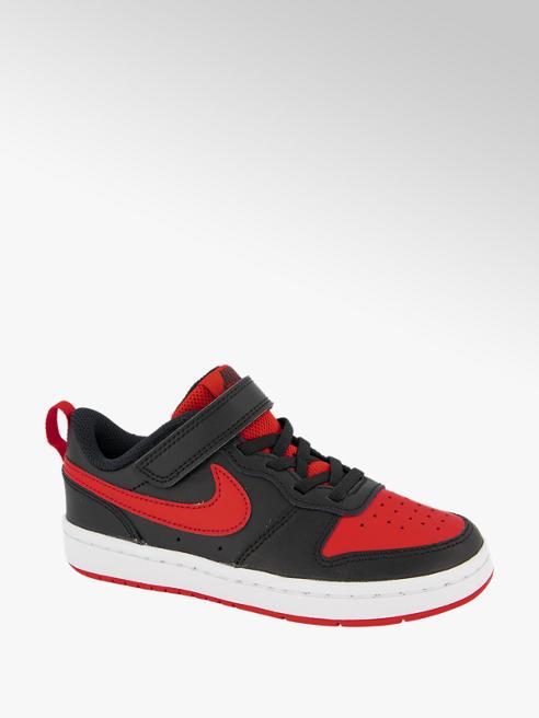 Nike Zwarte Court Borough Low 2 klittenband