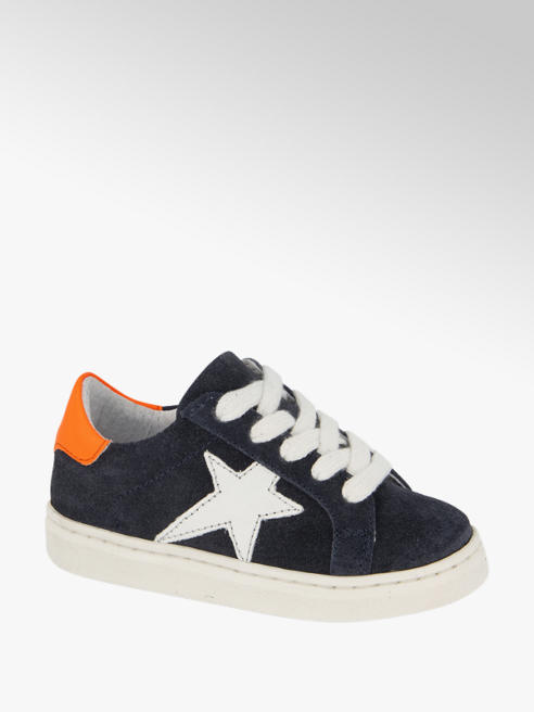 Bobbi-Shoes Donkerblauwe suede sneaker