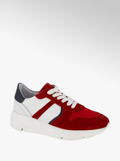 Vty Rode leren chunky sneaker