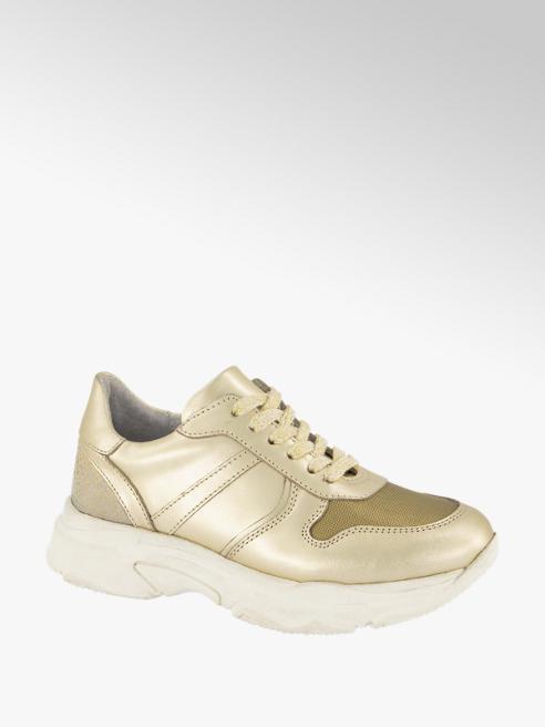 Graceland Gouden leren chunky sneaker