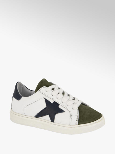 Bobbi-Shoes Witte leren sneaker