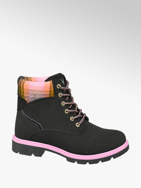 Vty Ladies VTY Black Lace-up Boots