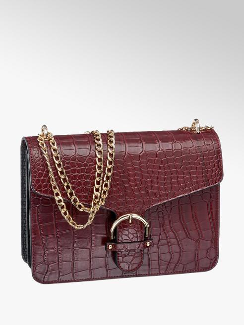 Graceland bordowa torebka damska Graceland na łańcuszku