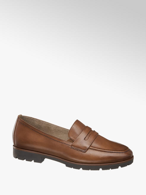 5th Avenue Cognac Leather Loafers