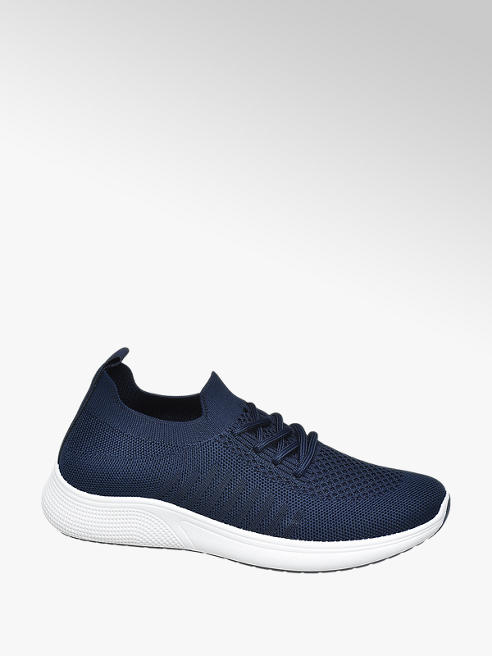 Graceland Ladies Knitted Lace-up Trainers