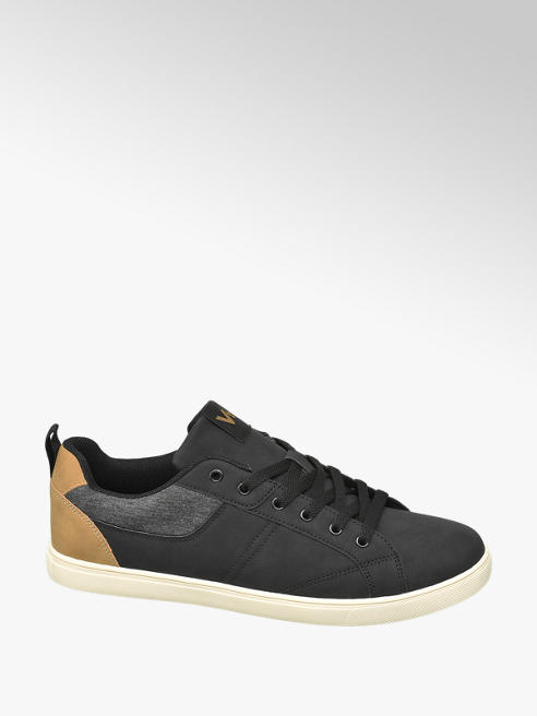 Vty Mens VTY Black Lace-up Casual Trainers