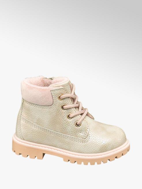 Cupcake Couture Zandkleurige vetrboot met parelmoer effect