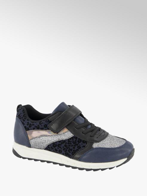Graceland Blauwe sneaker panterprint