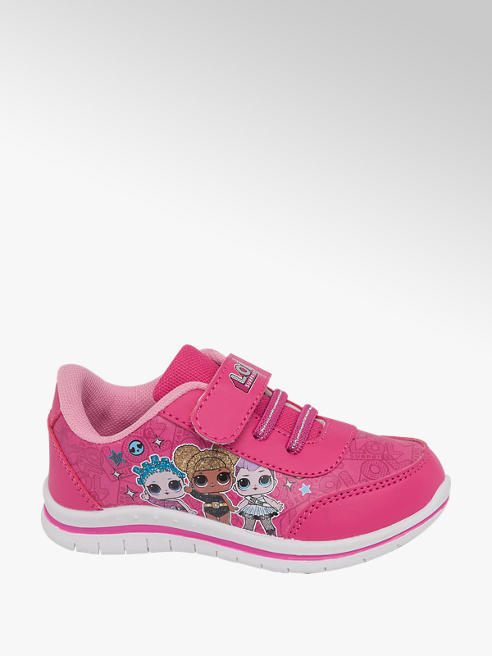 Toddler Girls LOL Pink Touch Strap Trainers