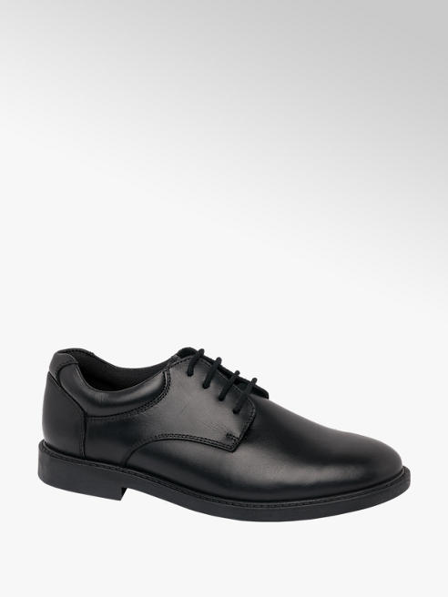 Hush Puppies Mens Hush Puppies Black Leather Lace-up Shoes
