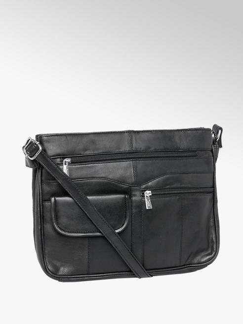 Black Leather Cross Body Bags