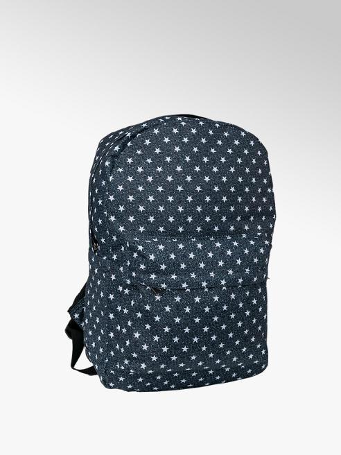 Black Star Print Backpack