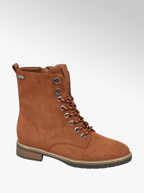 Esprit Cognac Lace Up Ankle Boots