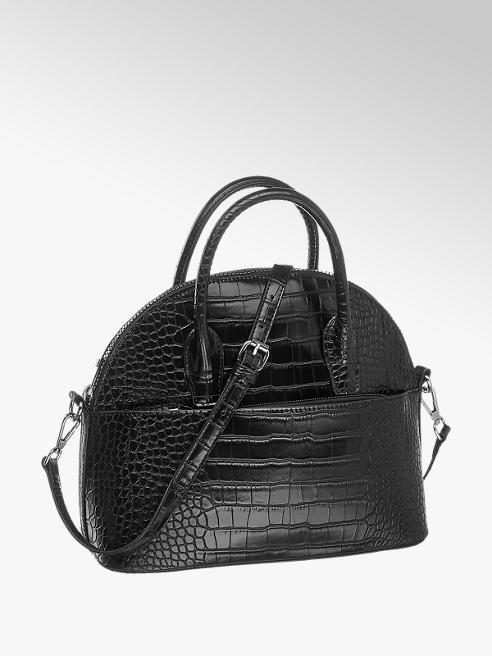 Graceland Дамска черна чанта с къси дръжки Graceland