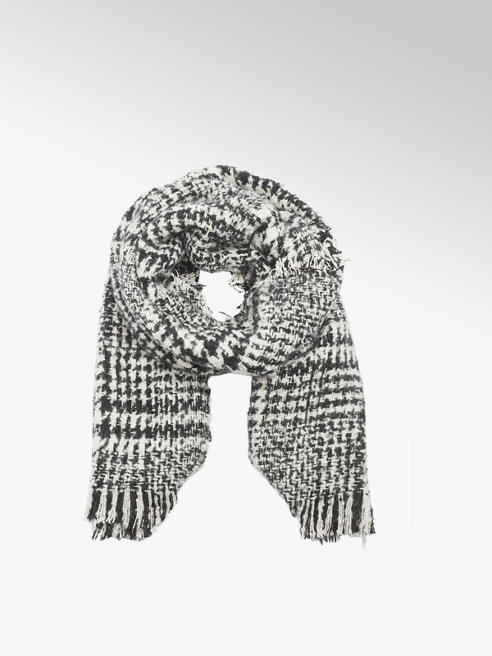 Black/ White Print Scarf