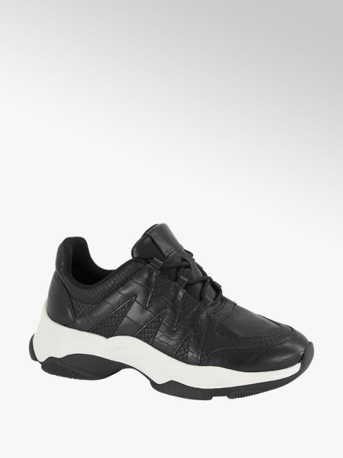Oxmox Zwarte sneaker crocoprint