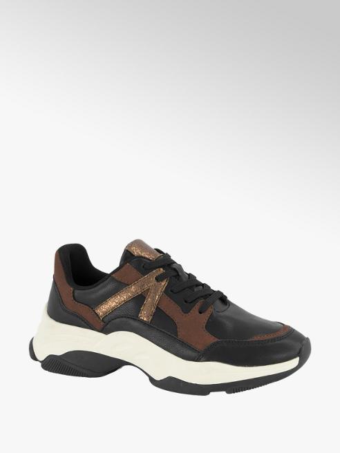 Oxmox Zwarte sneaker chunky