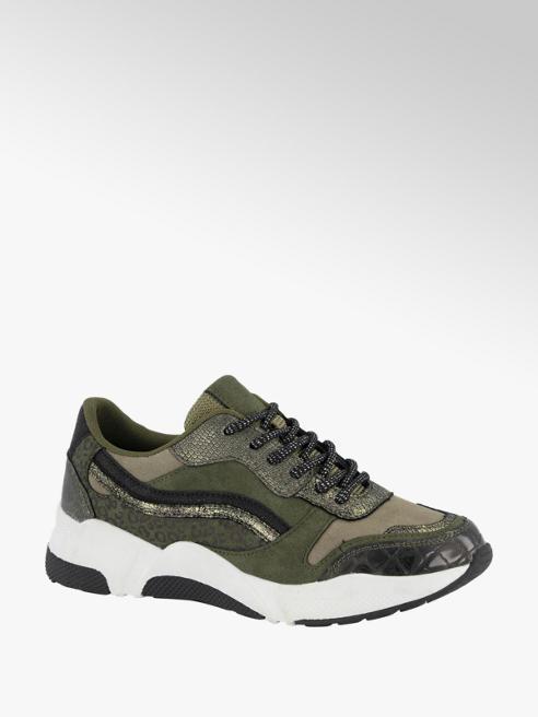 Graceland Groene sneaker metallic
