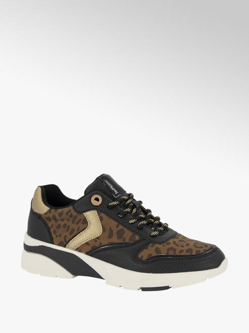 Graceland Zwarte sneaker panterprint