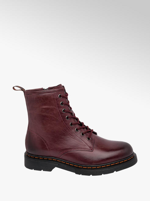 5th Avenue Burgundy Lace Up Ankle Boots