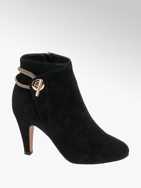 Lotus Faux Suede Heeled Ankle Boots