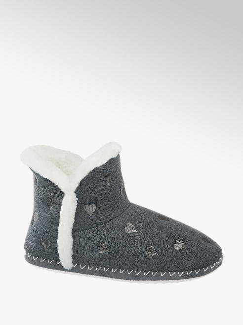 Casa mia Ladies Casa Mia Grey Slipper Boot