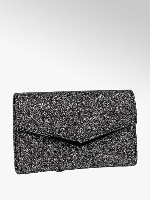 Catwalk Grey Glitter Clutch Bag